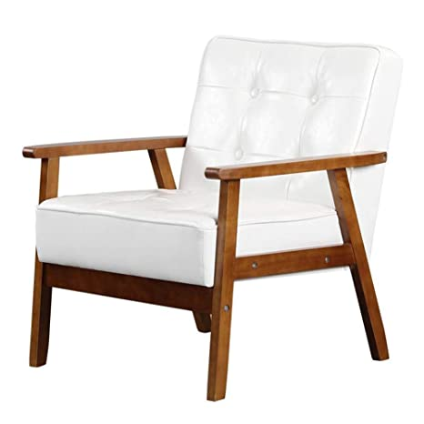 Amazon.com: QQXX Chairs Solid Wood, Oil Wax Leather/Linen ...