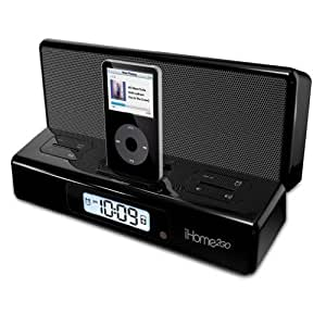 iHome IH27BR Alarm Clock - Accesorio para MP3 (Negro, 260 x 48 x 165 mm, Universal Power Adapter (included) or Battery Operation)