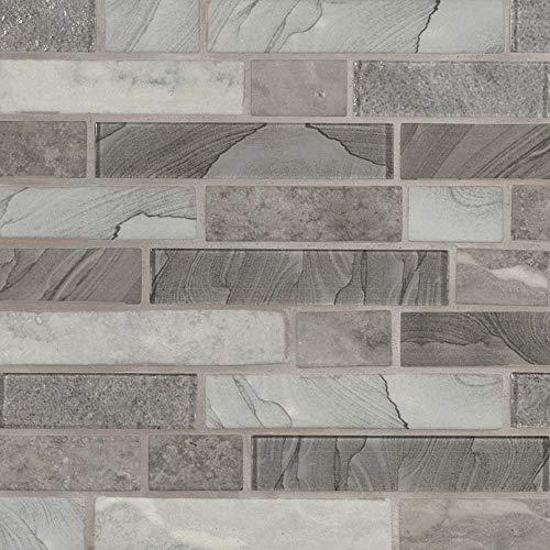 Tarvos Celano Interlocking Pattern Recycled Glass Mosaic, 10SFT/Case (10 Pcs)