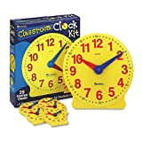Learning Resources - Classroom Clock Kit, Learning Clock, for Grades Pre-K-4 - Sold As 1 Set - Demonstrate time-telling concepts while students follow along.