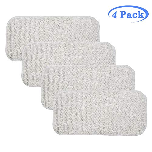 Hycles Replacement Sienna Luna Cloth Pads Microfiber Mop Pads for Steamer Head SSM-3006 Washable Cleaning Pads for Floor 4 Pack