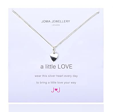 A Little Love Silver Heart Necklace By Joma Jewellery CB5RvnBvl