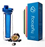 Hydracy Fruit Infuser Water Bottle - 25 Oz Sports Bottle with Full Length Infusion Rod and Insulating Sleeve Combo Set + 27 Fruit Infused Water Recipes eBook Gift - Aqua Green
