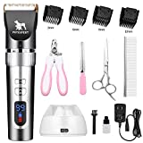 Best Pet Hair Clippers - PetExpert Dog Clippers Cordless Dog Grooming Clippers Kit Review