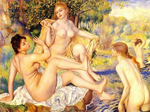 16X20 inch Pierre Renoir Nude Canvas Print RePro Naked Bathers