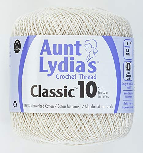 Coats Crochet Classic Crochet Thread, 1 Pack, Antique White