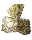INMONARCH Mens brocade turban pagari safa hat for groom TU1015 23-inch Golden