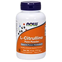 NOW Supplements, L-Citrulline Pure Powder, Supports Protein Metabolism*, 4-Ounce