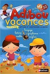 Adibou Vacances, de la Moyenne Section vers la Grande Section