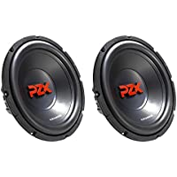 Crunch 600W 12 PZX Series Dual 4 Ohm Voice Coil Car Subwoofer, 2 Pack | PZX12D4