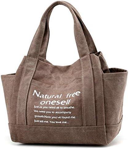 女性キャンバストートハンドバッグカジュアル印刷ショルダーバッグ容量ショッピングバッグ YZUEYT