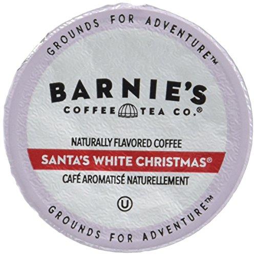 Barnies Coffee & Tea Santas White Christmas Single Serve Coffee, K Cups for Keurig Brewers, Medium Roast, Arabica Coffee Beans, 10 Single Serve Cups