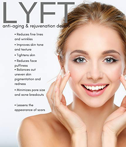 LYFT 2.0 by Nurysh. Facial Cleansing & Firming Massage Device. Galvanic & Micro-Vibration Technologies. Rejuvenate, Cleanse, Smooth Fine Lines, Tighten Skin, and Reduce Skin Irritation. by Nurysh (Image #6)