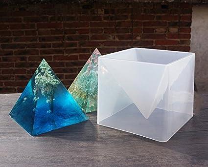 amazon com doyolla large pyramid silicone jewelry mold diy