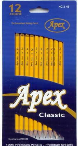 Apex Classic #2 Pencils 12/pack I 72 pcs sku# 1285178MA by DDI