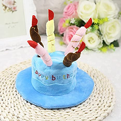 Aubess Pet - Sombrero para pastel de cumpleaños, visera ...
