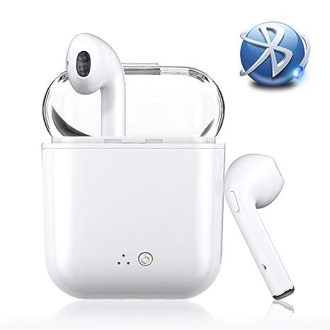 Auriculares Bluetooth, intrauditivos Auriculares inalámbricos TWS ergonómicos con Cargador portátil y reducción de Ruido X