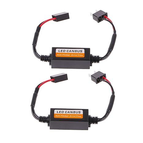 2 unidades de luces LED H7 para coche, Canbus, resistencia sin errores, luz