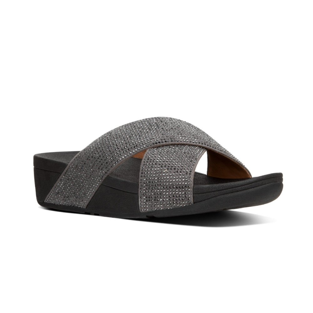 FitFlop Trade; Womens Ritzy™ Slide Sandals, Pewter, Size 10