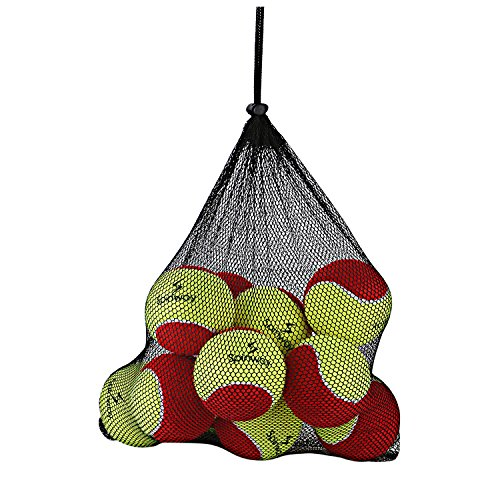 Spinway Mini Tennis Balls Stage 3 (Pack of 12) Red and Green Colour
