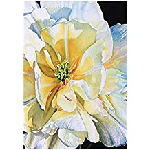 Decorative Accessories White Peony Banner Noble And Unsullied Outdoors Flags Of Double Sided Waterproof And Fade Resistant Printed banners 12.5 X 18 Inch 100% Polyester