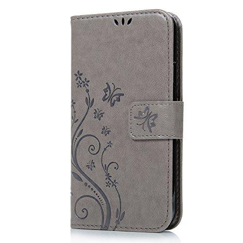 S5 Case Galaxy Wallet Butterfly