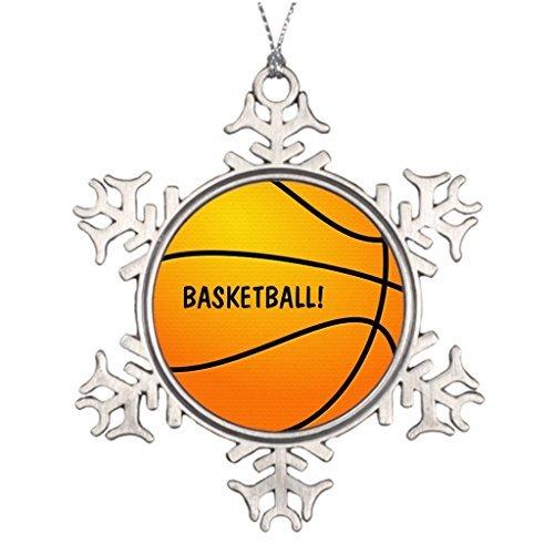 Venu67Hol Ideas for Decorating Christmas Trees Basketball! Netball Classic Christmas Snowflake Ornaments Tree Decor]()