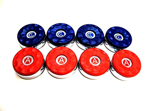 "8 American Shuffleboard Pucks - 2-5/16"""