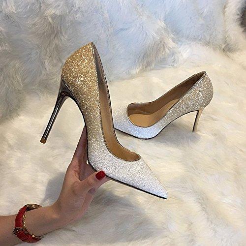 Zapatos de Tacón Alto con Cristales Puntiagudos Re