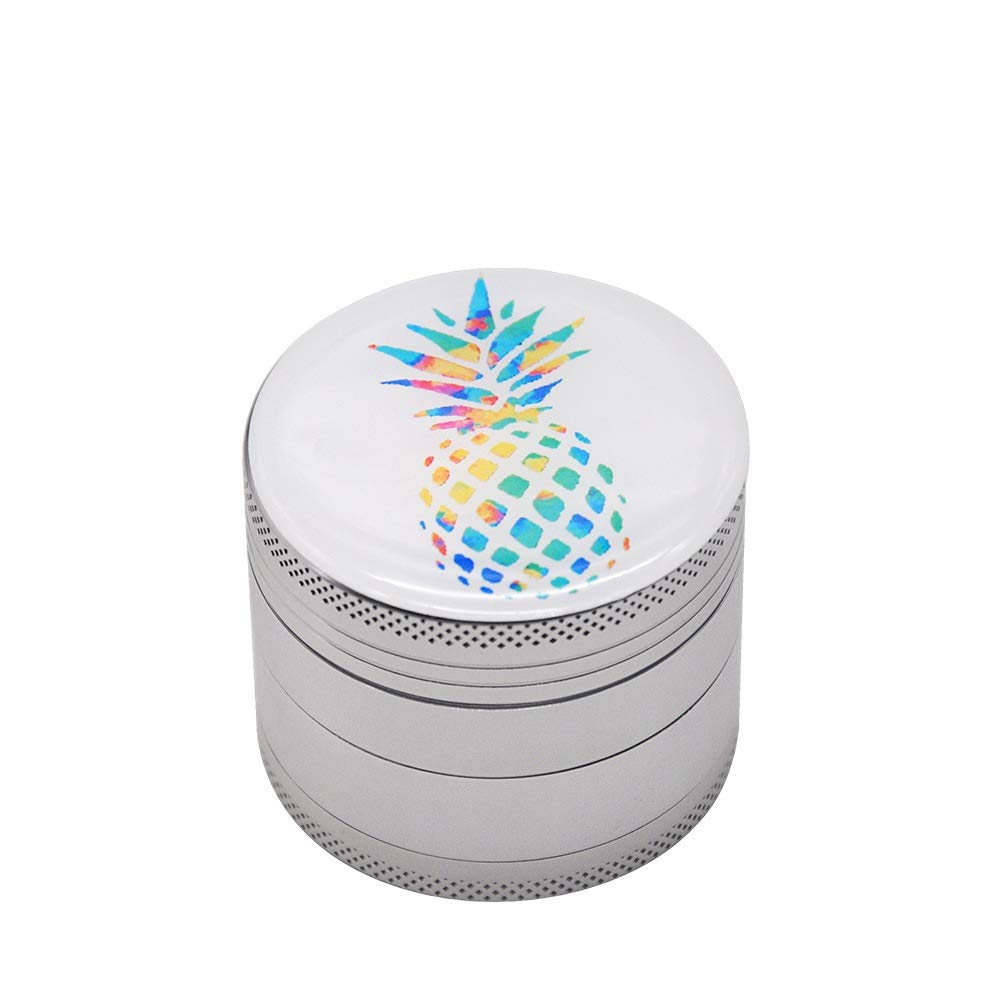 Yzyamz Herb Grinder Aluminum Four-layer Pineapple Pattern Grinder Portable Manual Grinder Bench Grinder, 2in'' (50Mm) by Yzyamz