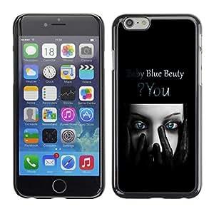 LECELL -- Funda protectora / Cubierta / Piel For Apple iPhone 6 -- Blue Beauty --