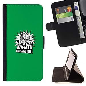 Momo Phone Case / Flip Funda de Cuero Case Cover - Mundial Robot Dominación;;;;;;;; - HTC One M8