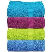 Trident 400 GSM 4 Piece Cotton Hand Towels - 40 X 60 cm, Multicolor
