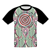 target crop top - Archery Target Girls Soft T-Shirt 3D Graphic Short Sleeved Raglan Baseball Tee
