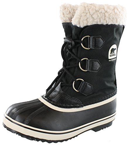 Sorel Yoot Pac Nylon Cold Weather Boot , Black, 6 M US Big Kid