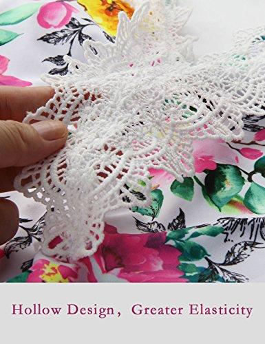Bagno Costume Pizzo con V Donna Costumi Rosa a da Vintage in Un da Angerella Floreale Pezzo Scollo Bagno Monokini BYFqBI