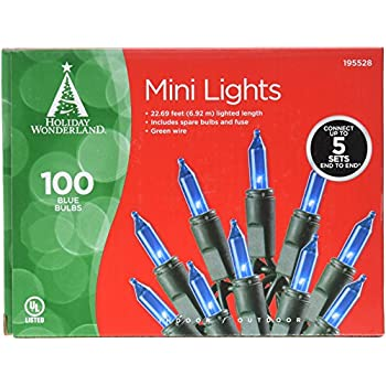 NOMA/INLITEN-IMPORT 4004-88A HW 100ct Blue Light Set