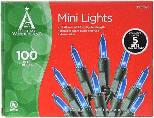 Noma/Inliten IMPORT 4004-88A HW 100ct Blue Light Set by Noma/Inliten