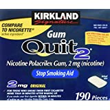 Kirkland Signature quit2 2 MG original gum 2 x 190 count