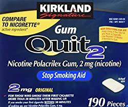 Kirkland Signature Quit Smoking Gum, 2 Mg, 380 Count