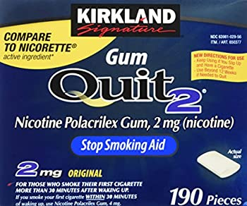 Kirkland Signature Quit Smoking Gum, 2 Mg, 380 Count 0