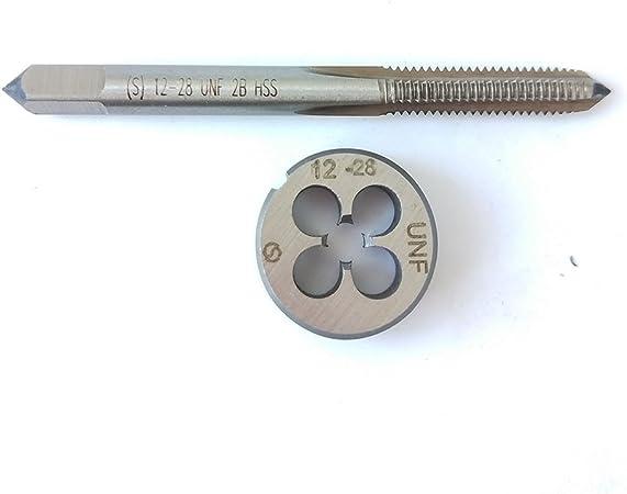 1pc HSS Machine 12-28 UNF Plug Tap and 1pc 12-28 UNF Die Threading Tool