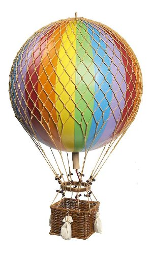 Jules Verne Balloon Hot Air Balloon Color: Rainbow by Authentic Models