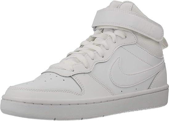Comparar Ridículo terminado  Amazon.com: Nike Court Borough Mid 2 Botas Niñas Zapatos Tamaño 4.5 Blanco:  Shoes