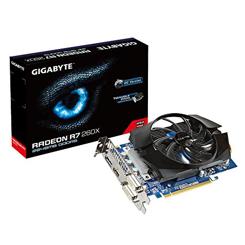 Gigabyte R7 260X GDDR5-2GB 2xDVI/HDMI/DP OC Graphics Cards GV-R726XOC-2GD REV3 (1100 Mhz Core)