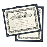 9 1/2 x 12 Single Certificate Holders - Nautical Blue Linen (50 Qty.) | Perfect for Award Recognition, Certificates, Documents and More! | SCH-BULI-50