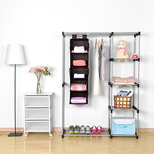 Hanging closet organizer maidmax collapsible hanging for Free hanging bookshelves