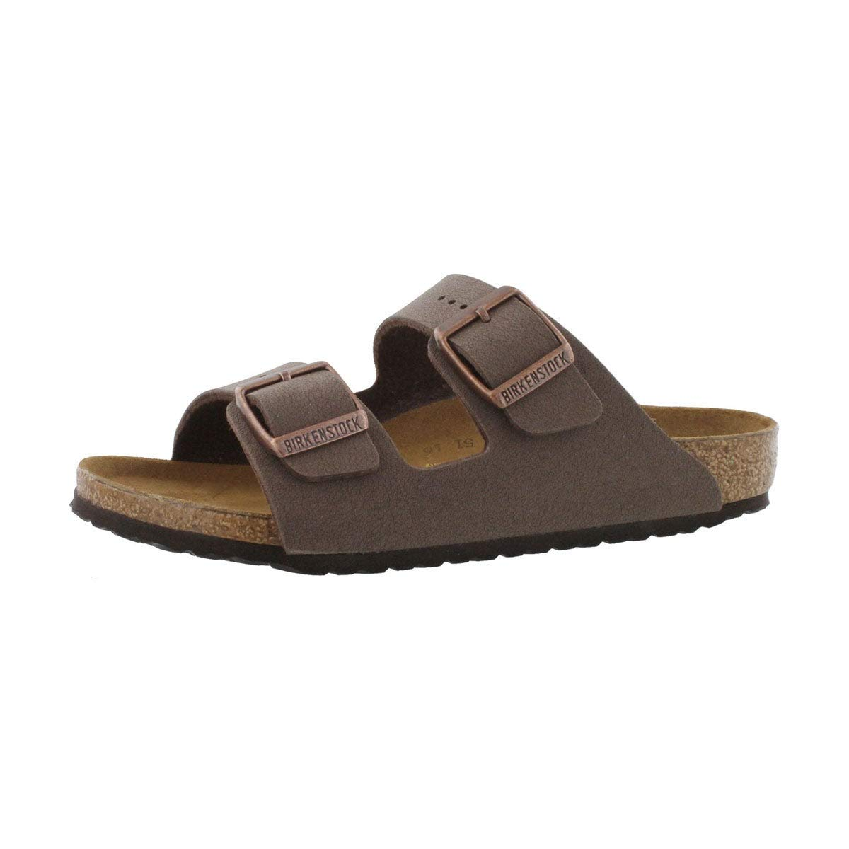 Birkenstock Children's Arizona 2-Strap Cork Footbed Sandal - Narrow Mocha 33 N EU