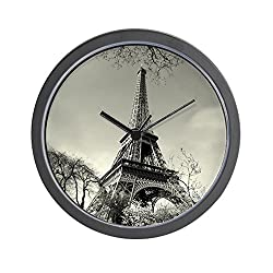 CafePress Old Time Eiffel Tower View Unique Decorative 10 Wall Clock