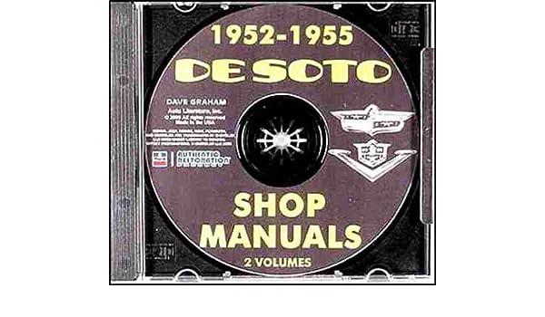 1952 1953 1954 1955 desoto repair shop & service manual &     wiring  diagram